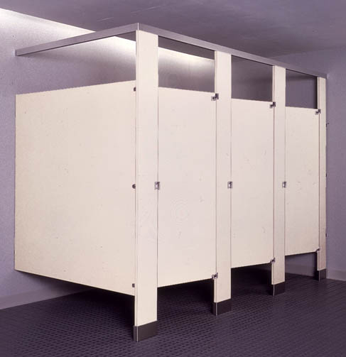 Bobrick classic plastic laminate partitions budget 1542 for Bathroom partitions