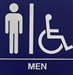 Restroom Sign, Wall ADA MEN 8x8