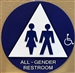 SBH12AG-01 ALL GENDER RESTROOM DOOR SIGN
