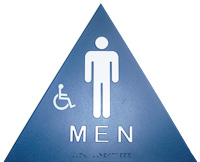 Title 24 Mens restroom sign