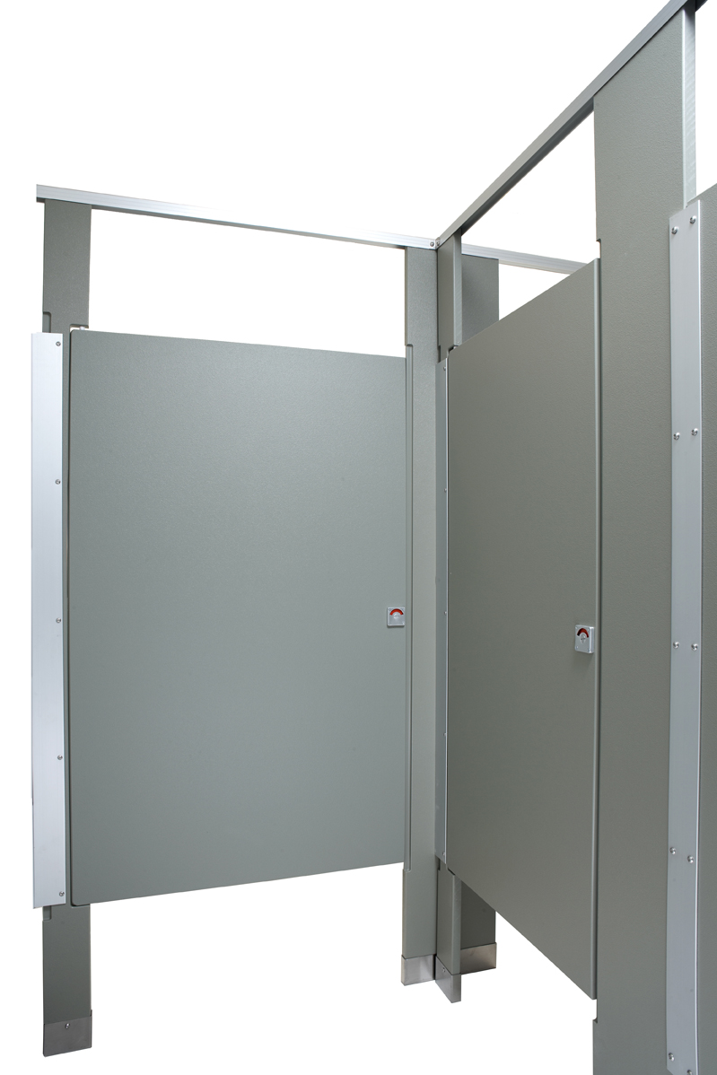 Columbia solid plastic bathroom partitions for Bathroom stall partitions parts