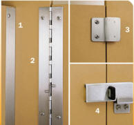 Bobrick Series Toilet Partitions - Bathroom partition hinges