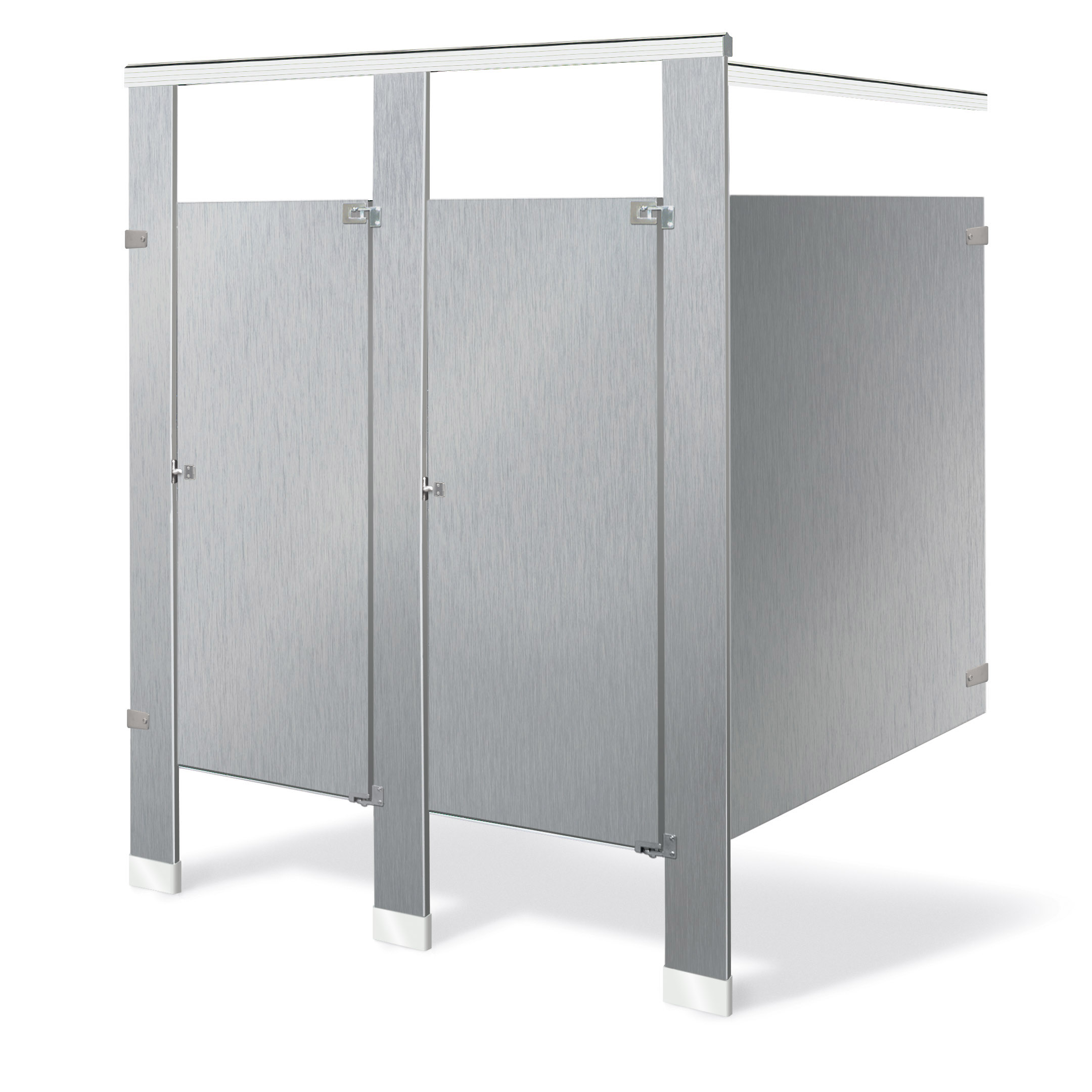Sentinel  Floor Mounted  Overhead Braced  Series 400 Toilet partitions. Bradley Mills Baked Enamel Toilet Partitions