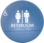 Bathroom Signs Circle And Triangle ada and title 24 restroom signs