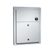 Sanitary Waste Disposal - 0472-1 - Dual Access, w/ Lock - Partition Mounted