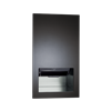 PIATTO™ 645210AC-41 COMPLETELY RECESSED AUTOMATIC ROLL PAPER TOWEL DISPENSER – AC POWER – MATTE BLACK PHENOLIC DOOR