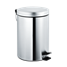 Waste Receptacle - 7317 - Pedal Activated Cover - Bright Stainless Steel - Free Standing