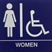 Restroom Sign, Wall ADA Women 8x8