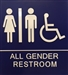 SB454 ALL GENDER ADA WALL SIGN