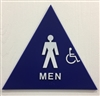 SBH12M-01 Restroom Sign, Door TITLE 24 Men