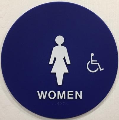 restroom signs. Unique Restroom Restroom Sign Door TITLE 24 WOMEN Inside Signs S