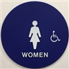 Restroom sign, Door TITLE 24 WOMEN